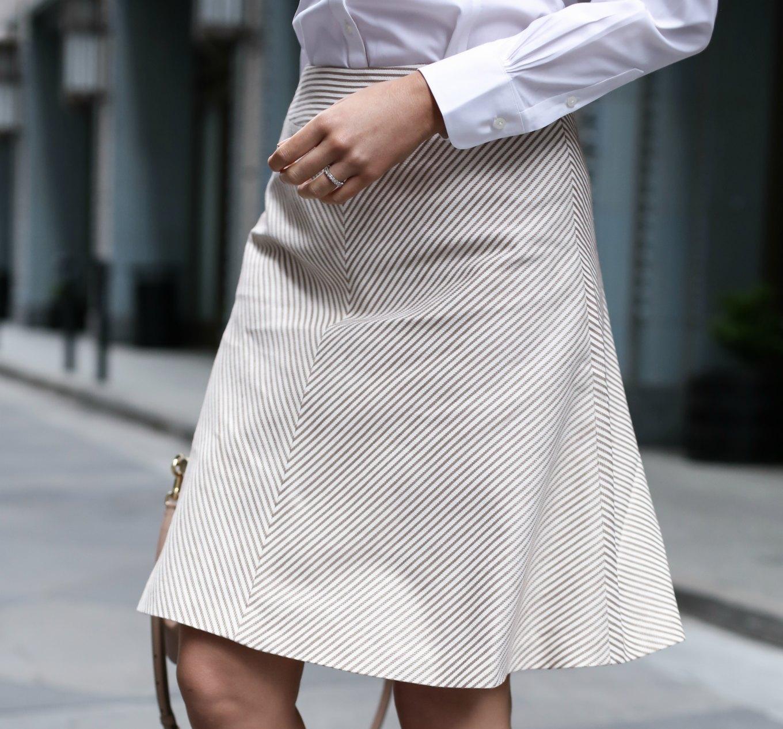 Tan-White-A-Line-Srtipe-Skirt-Snakeskin-Pumps-Workwear-Office-Style-Fashion-Blog-San-Francisco-SF7