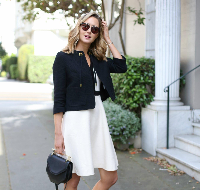 镇-Knit-Flare-Criading-Black-White-Shorf-Sleeve-Work-Office型式时尚博客 -  San-Francisco-SF-Classic-Professional3