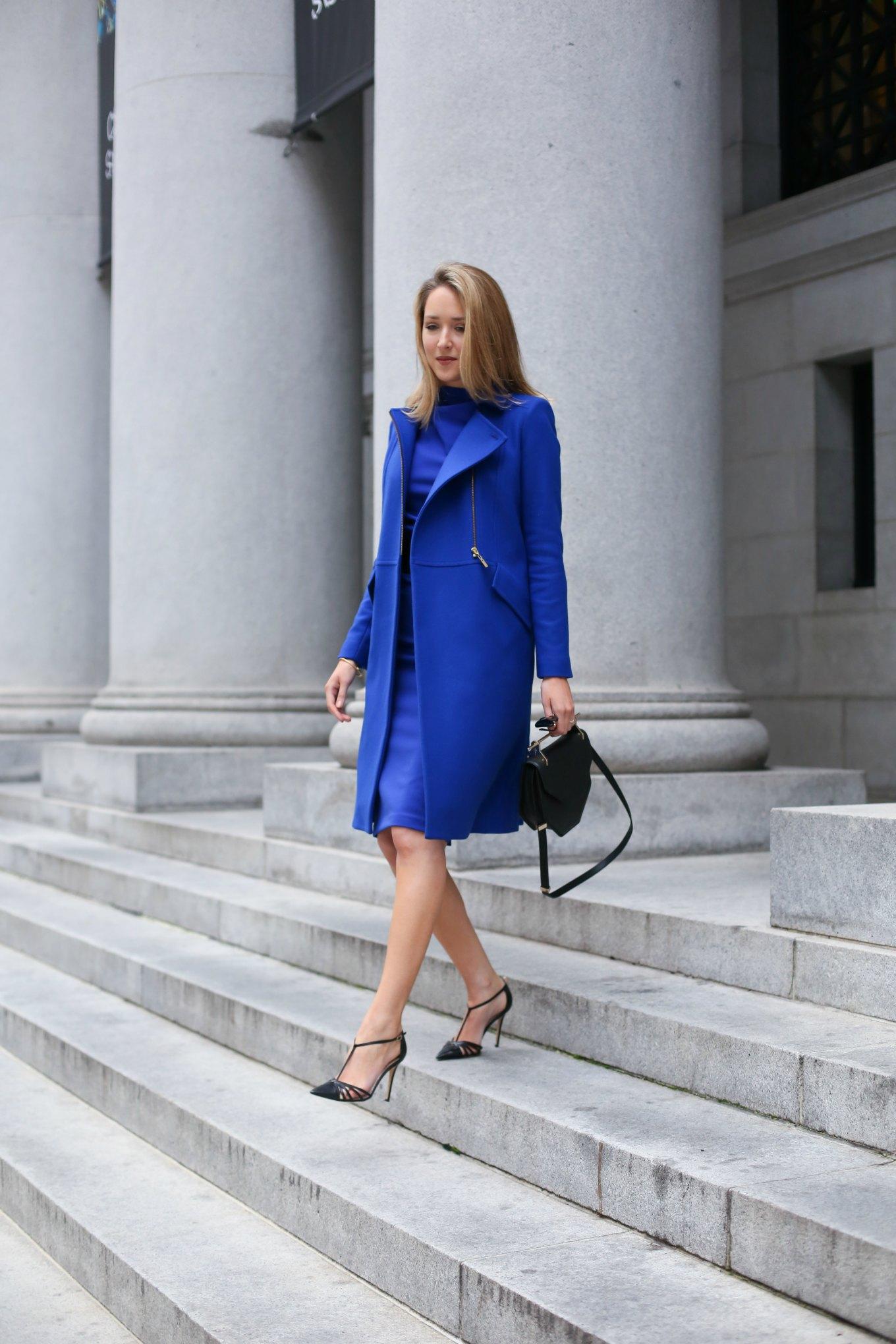 cobalt-monochromatic-coat-sheath-dress-cowl-badgley-mischka-sjp-collection-carrie-pumps-work-wear-office-style-fashion-blog-san-francisco-sf6